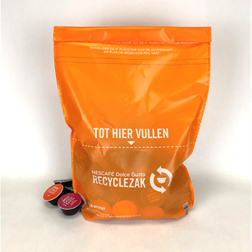 Bolsa plastico reciclado capsulas Nespresso-min