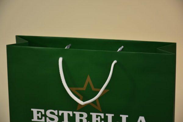 bolsas de asa cuerda bolsas de papel reciclables y reutilizables