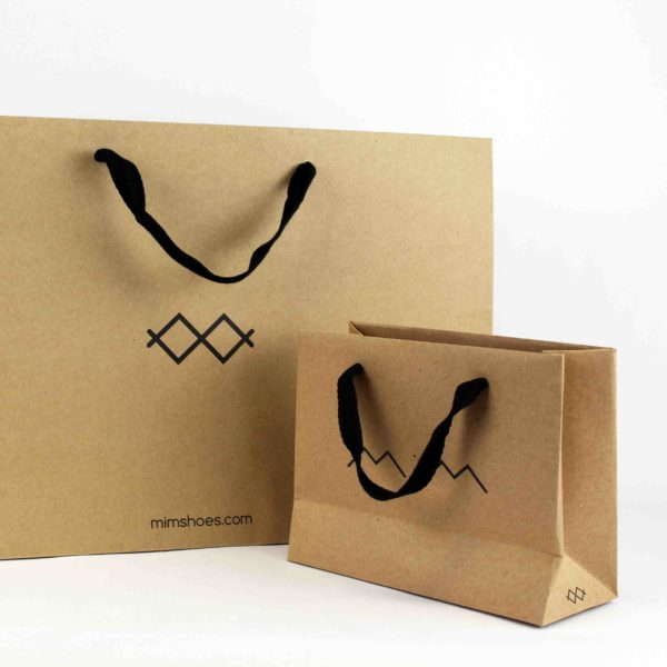 Kraft ribbon handle bags