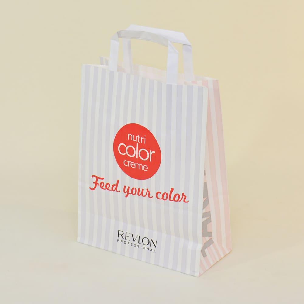 Bolsa de papel Revlon asa plana