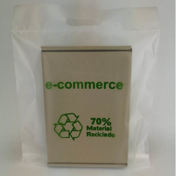 Sobres translucidos plástico reciclado ecommerce