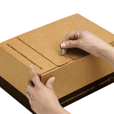 Cajas de cartón ecommerce abre facil