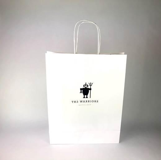 Bolsa de papel asa retorcida impresa en Offset