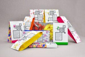 Packaging con tonos vivos