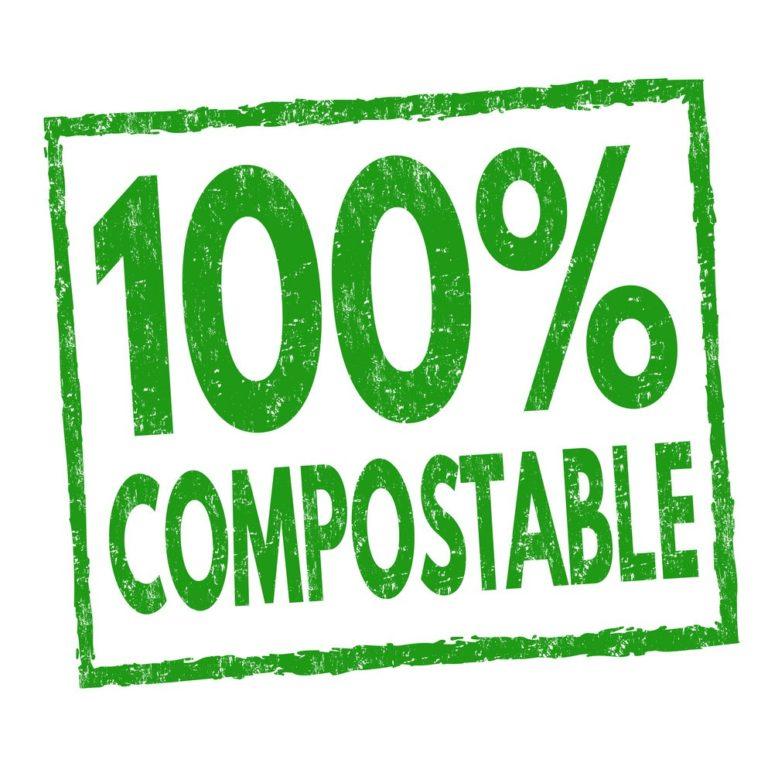 De qué están hechas las bolsas compostables