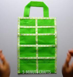 Trabajos con bolsas recicladas