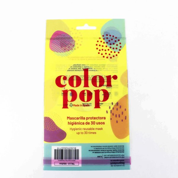 Bolsa mascarillas color pop