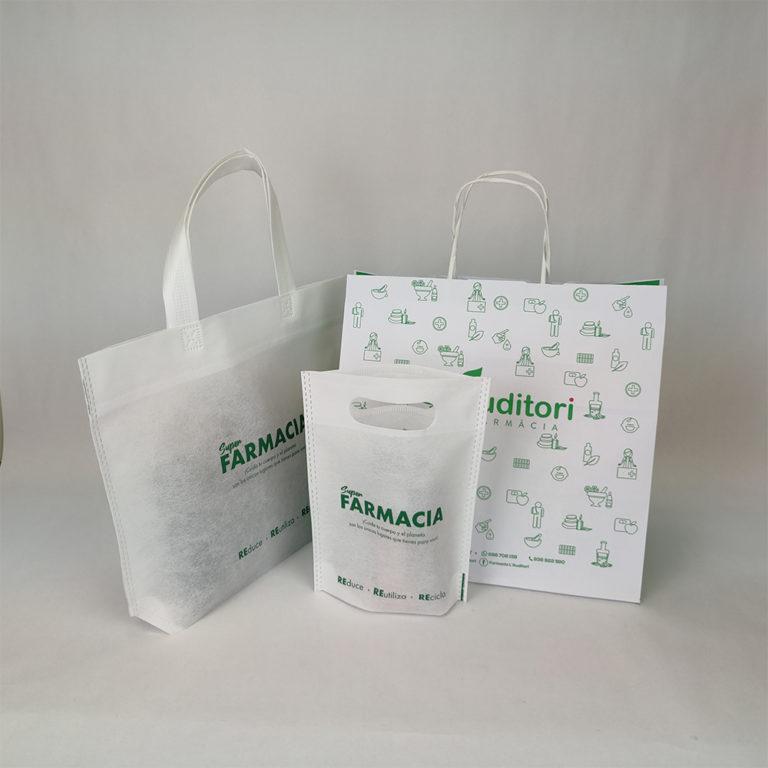 bolsas para farmacias y parafarmacias y laboratorios